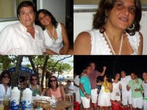 Araken e Mayra, amigos e parentes, no Pilha Pura de Joaninha