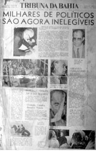 Capa da Tribuna da Bahia em 21 de outubro de 1969