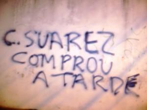 Pixação em muros da cidade (fonte: Política Livre)