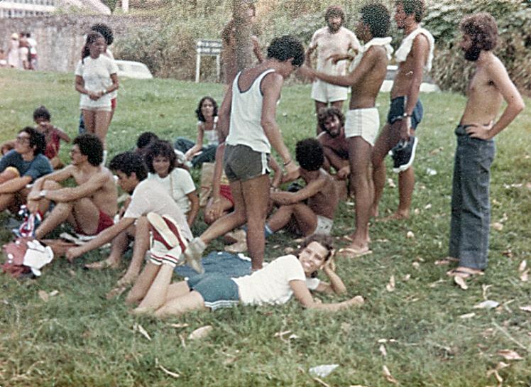 Atividade esportiva do CEUSC-REC nos Barris em 1980