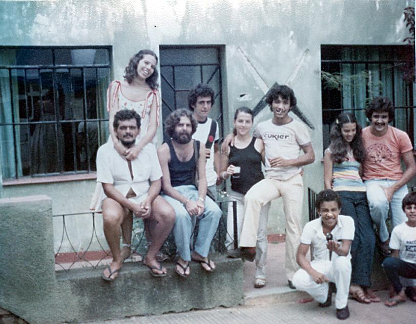 Reunião na casa de Dona Mera - março de 1980