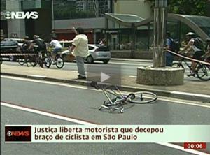Desembargador libera motorista que decepou braço de ciclista em São Paulo