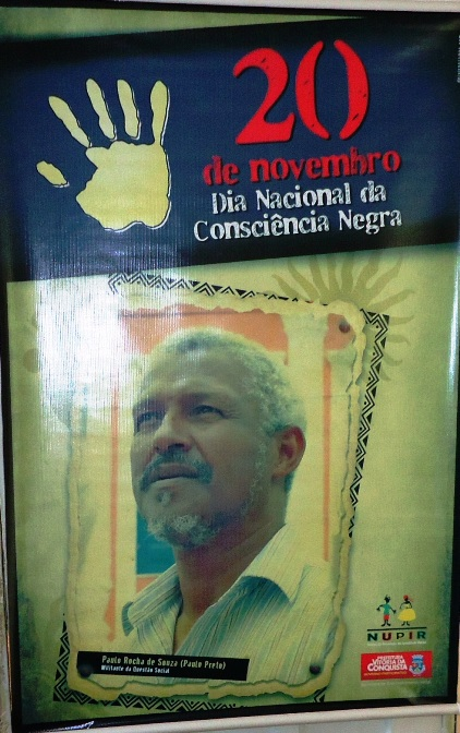 Banner da homenagem a Paulo Preto no Dia da Consciência Negra