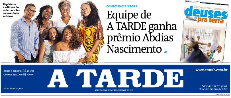 Equipe de A TARDE conquista prêmio Abdias do Nascimento