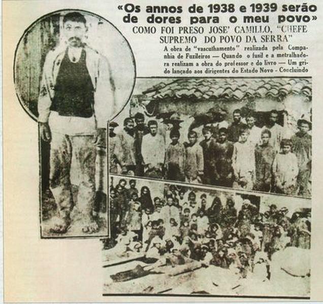 Imagem de recorte de jornal de 1938 - está na Wikipédia