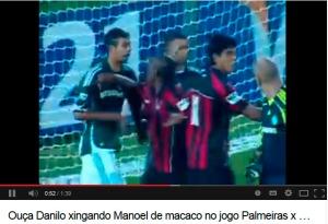 Danilo xingando Manoel - racismo
