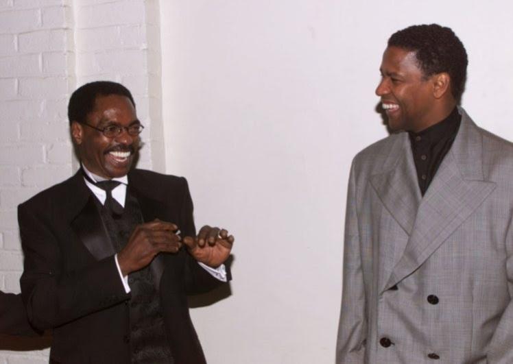 Hurricane Carter em 1999 com Denzel Washington na estreia do filme que lhe foi dedicado - Foto: Fred Prouser - Agência Reuters