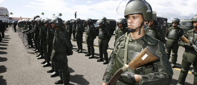Copa 2014 - tropas do exército - oglobo.com
