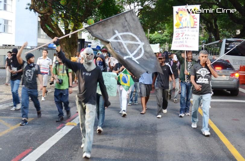 Manifestação contra a Copa - Corredor da Vitória