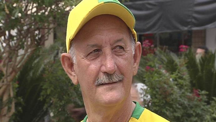 Wladimir Palomo. Ele trabalha como sósia de Felipão há mais de um ano no programa da TV Globo, Zorra Total