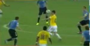 James Rodríguez - primeiro gol contra o Uruguai