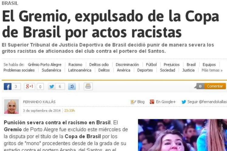 Grêmio expulso da Copa do Brasil
