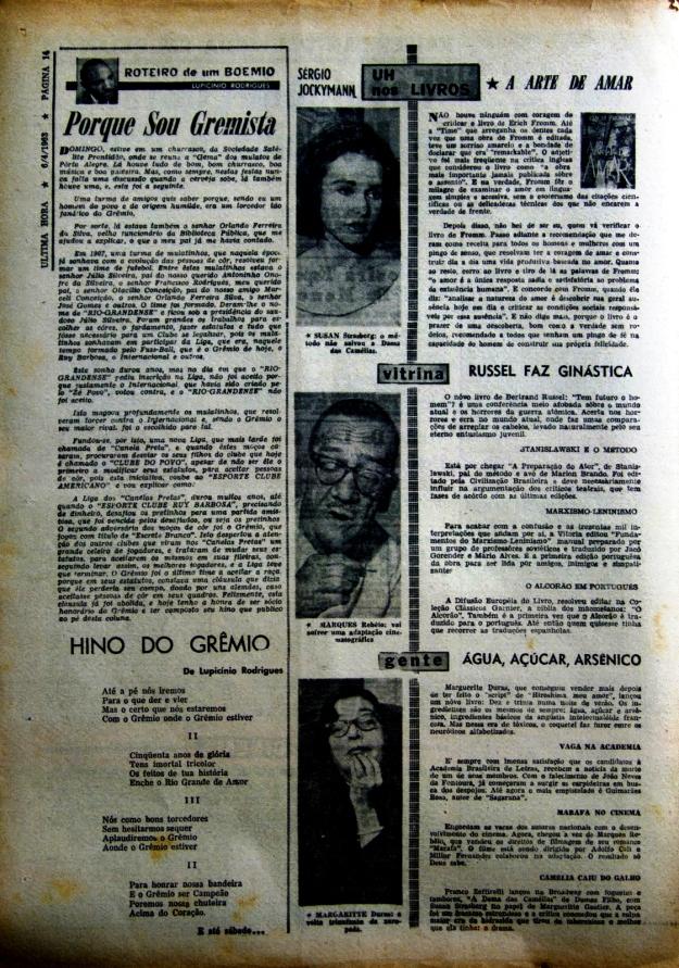 Lupicínio Rodrigues - jornal Última Hora