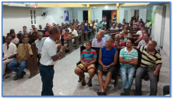 Palestra na Igreja na Sede sobre Disfunção Erétil