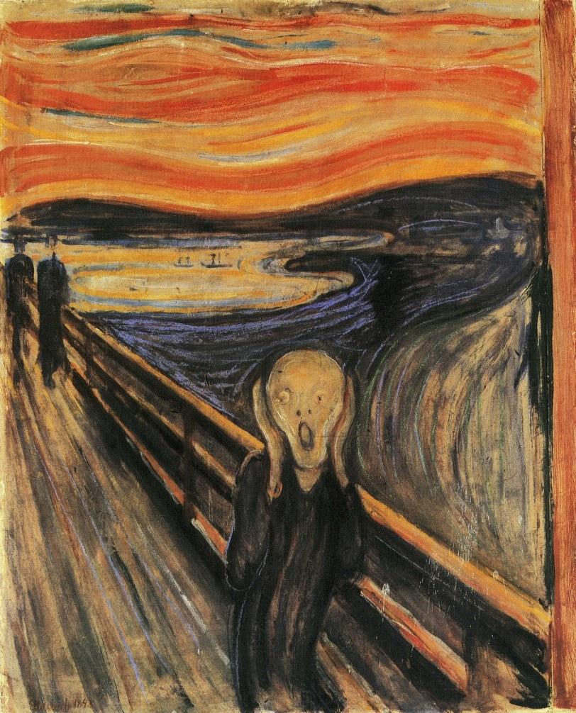 O Grito - Quadro do expressionista Edvard Munch