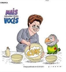 Charge de Simanca - Dilma e o CPMF - A TARDE - 17-09-15 - pág.3