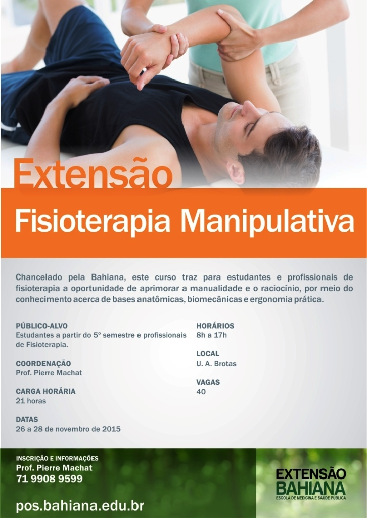 Fisioterapia Manipulativa - Escola Bahiana -POS-2015