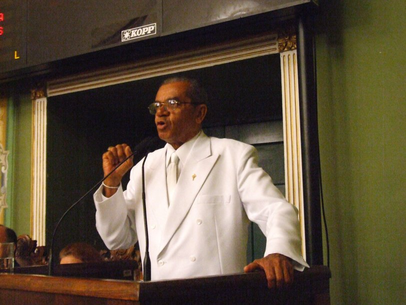 Vereador Antonio Lima durante sessão especial em 26 de outubro de 2007 - Foto de Valdemiro Lopes