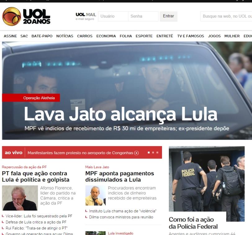 Lula é alcançado pela Operação Lava-Jato
