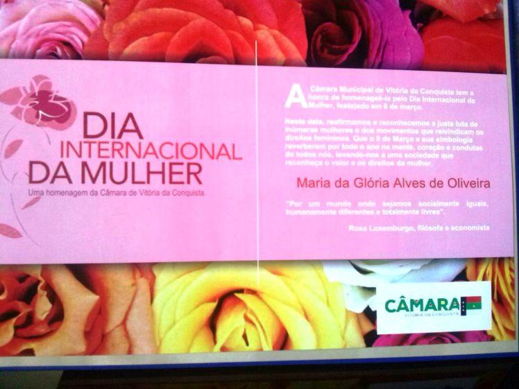 Maria da Glória - homenagem pelo Dia da Mulher 2016 (1)
