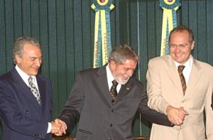 Michel Temer, Lula e Renan Calheiros