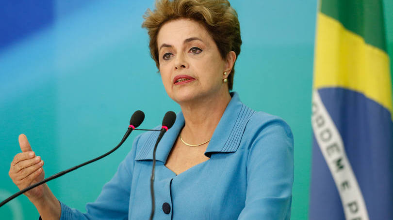 Dilma Rousseff em pronunciamento após votação da continuidade do processo de impeachment
