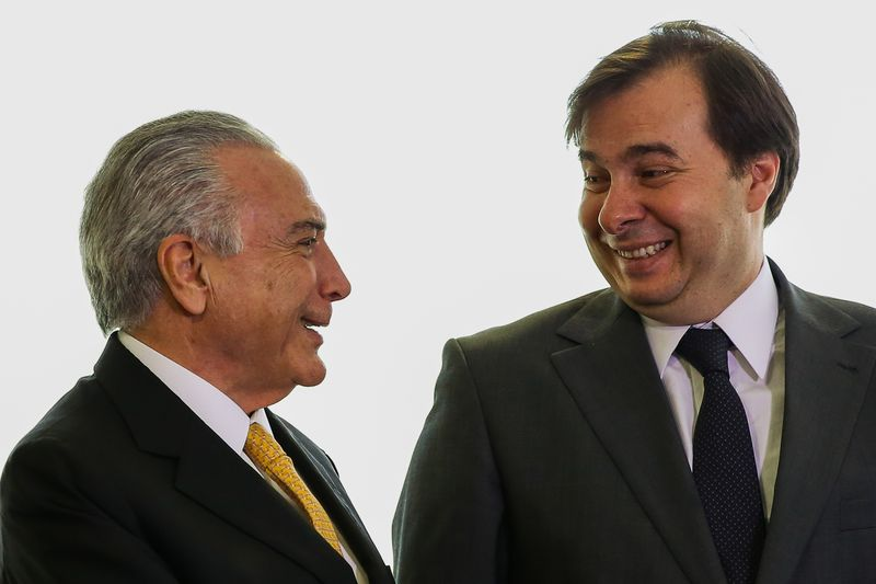 Michel Temer e Rodrigo Maia