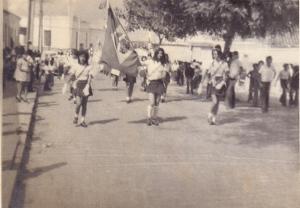 Banda do Colégio Batista Conquistense - Desfile do 7 de setembro de 1974 - Rua João Pessoa