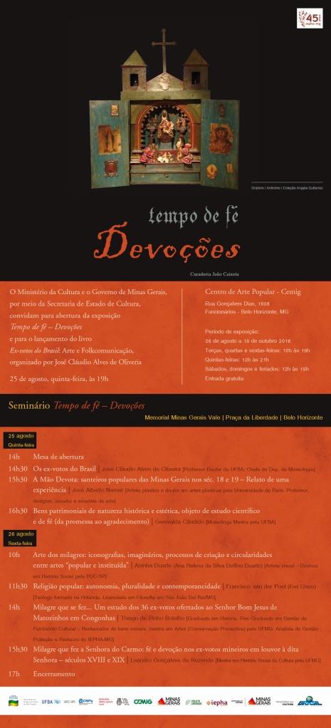 Seminário - Fé e Devoção - convite