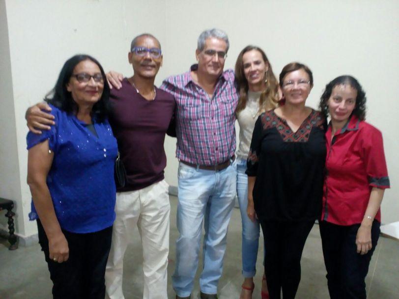 Maria da Glória, José Cláudio, Fernando Zamilute, Alba Garcez, Eulina Alves Gomes e Luciene Oliveira